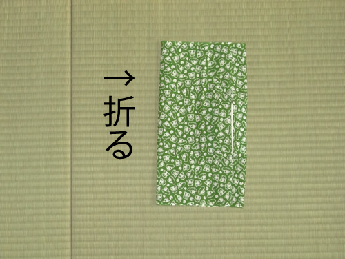日本手拭いでポケットティッシュの包み方04